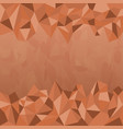 polygon earth tone background vector image vector image