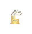 power plant computer symbol vector image