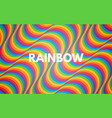 rainbow abstract background colorful texture with vector image vector image