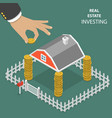 real estate investing flat isometric vector image vector image