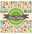Retro Christmas Card Design vector image vector image