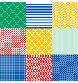 seamless colorful patterns with fabric texture vector image vector image