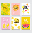 set exotic citrus fruits badge isolated vector image