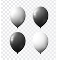 Set realistic color air balloons isolated with vector image vector image