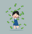 small girl with bills vector image