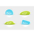 stickers in pockets vector image