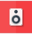 Subwoofer web icon Flat design vector image