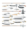 sword medieval weapon of knight with sharp vector image vector image