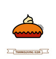 thanksgiving pie icon harvest thanksgiving vector image vector image
