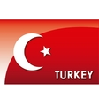 turkey flag vector image