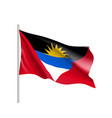 waving flag of antigua barbuda vector image