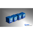 2017 PF Cubes vector image vector image