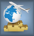 airline transport for shipping around the world vector image vector image