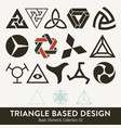 basic element collection triangle based design vector image vector image