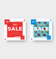 big sale square banner template with red and blue vector image vector image