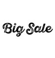 big sale stamp on white vector image vector image
