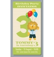 Birthday holiday greeting and invitation with cute vector image vector image