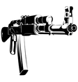black and white machine gun ak vector image vector image