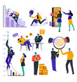 business isolated icons strategy and idea vector image