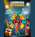 carnival announcement poster vector image vector image