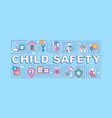 child safety word concepts banner vector image vector image