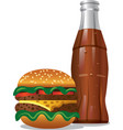 cola and hamburger vector image vector image