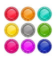 Colorful round buttons vector image vector image