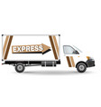 commercial vehicle vector image vector image