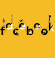 creative word concept facebook and people doing vector image