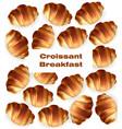 croissant pattern sweet dessert breakfast vector image