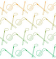 crossed golf club and ball sport game recreation vector image vector image