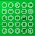 cryptocurrency solid circle icons vector image vector image