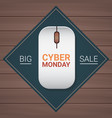 cyber monday big sale button on computer mouse on vector image vector image