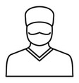 doctor avatar icon outline style vector image vector image