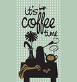 drawing with table coffee a vase at home vector image vector image