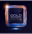 elegant shining square banner with glitter light vector image vector image