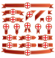 england ribbons vector image vector image