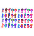 faceless colorful profile pictures avatars vector image