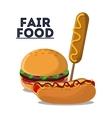 fair food snack carnival icon vector image vector image