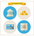 Flat Bank Website Icons Set vector image vector image