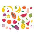 fruits hand draw set vector image