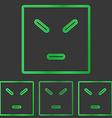 Green anger concept logo design set vector image vector image