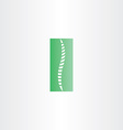 green healthy spine icon vector image vector image