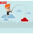 Hacker steal data on cloud computing vector image