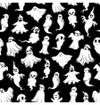 halloween ghost seamless pattern background design vector image vector image