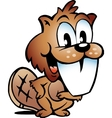 Hand-drawn of an Happy Beaver vector image vector image
