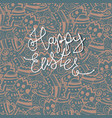 happy easter greeting card easter eggs pattern vector image vector image