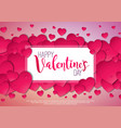 happy valentines day design with red heart on vector image vector image
