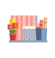Home Objects On The Shelf vector image vector image