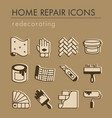 home repair remodelling redecoration icon set vector image vector image